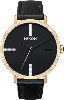 Nixon Arrow Leather Womens Watch One Size Gold/Black/Silver