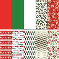 Yardwe 150Pcs 50 X 50 CMクリスマスラッピングペーパークリスマスギフト包装紙サンタトナカイ雪だるまギフトラッパー誕生日ホリデーラップ(ランダムスタイル)