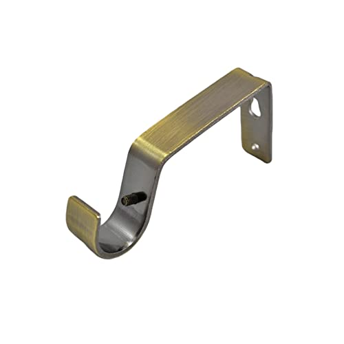 UK Metal Curtain Pole Recess Bracket Curtain Rail Support for 1inch Curtain Rod