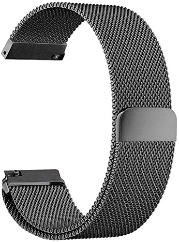 Self Choice Premium Stainless Steel Milanese Band Strap Wristband Bracelet Magnetic Strap For Samsung Gear S3 Frontier Galaxy Watch 46Mm Classic Smart Watches Any 22Mm Width Black