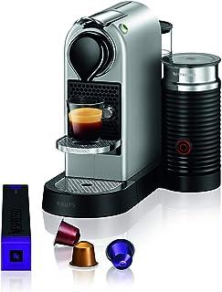 Krups XN761B Nespresso Citiz&Milk kahve kapsülü makinesi (1260 Watt, su tankı kapasitesi: 1l, pompa basıncı: 19 bar) gümüş