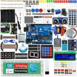 Adeept Ultimate Starter Kit compatible con Arduino IDE, Relay, Processing and C Code, LCD1602, Servo Motor Starter Kit con 140 Pages PDF Guidebook