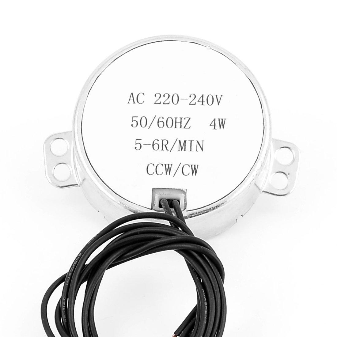 sourcingmap CCW/CW 4W 50 / 60Hz Frecuencia 5-6RPM eléctrico Motor ...