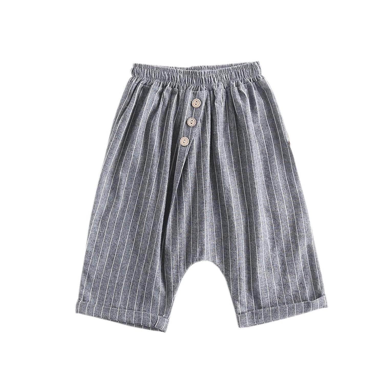 ALLAIBB ベビー服 ハーフパンツ 肌着 パジャマ 下着 ズボン 薄手 ボタン付き ゴム おしゃれ 普段着