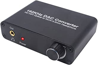 Digital to Analog Converter DAC Digital Optical Coaxial SPDIF Adapter With Volume Control Support Dolby AC-3/DTS 5.1CH Toslink to Analog Stereo L/R RCA 3.5mm Jack Audio Converter For HDTV PS3 PS4 DVD