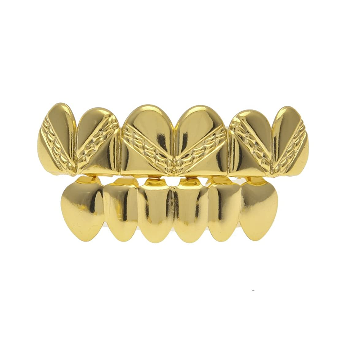 復活するリア王空気ゴールドメッキブレースリアルゴールドメッキ光沢ツイルヒップホップモデル,Gold