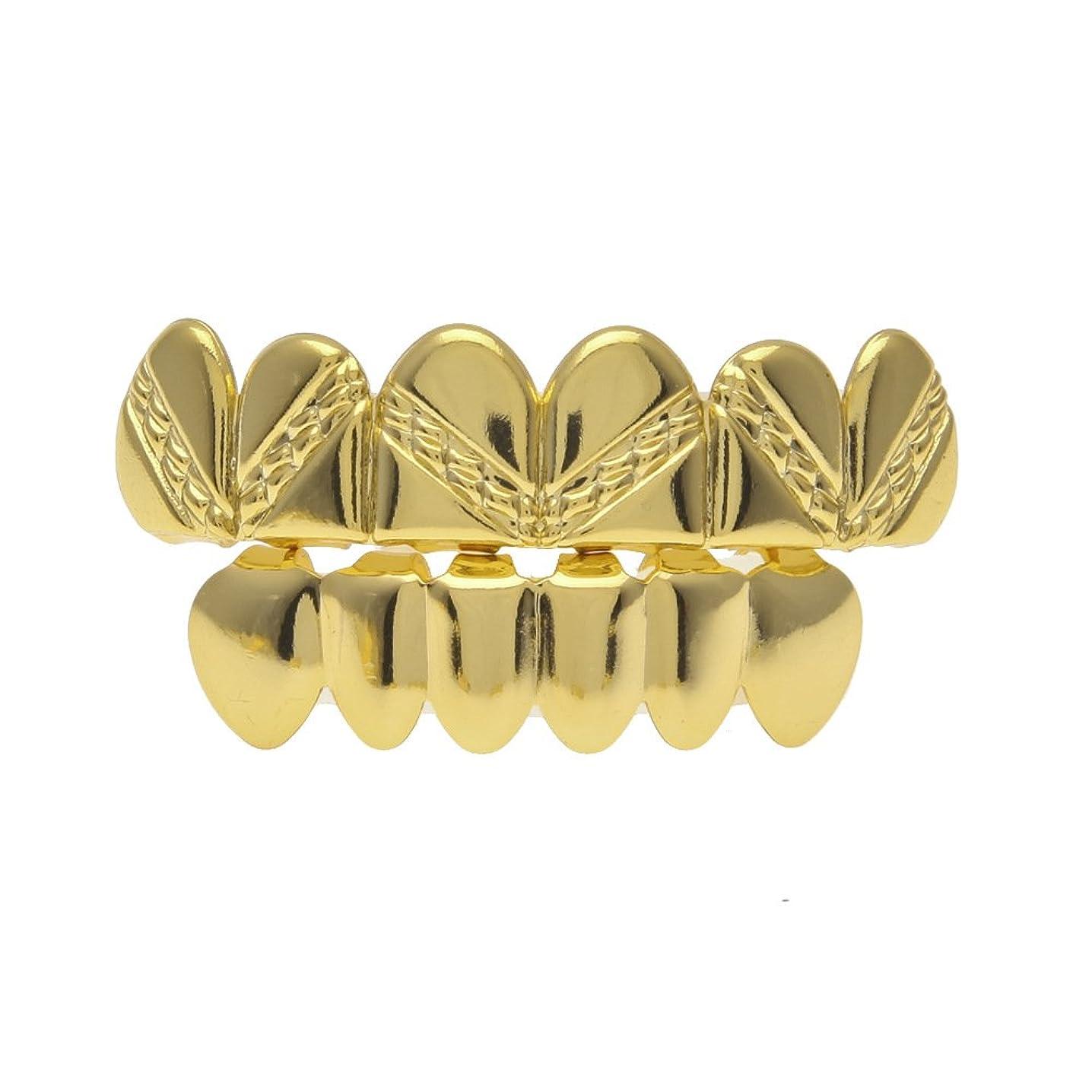 切るアクセント不完全なゴールドメッキブレースリアルゴールドメッキ光沢ツイルヒップホップモデル,Gold