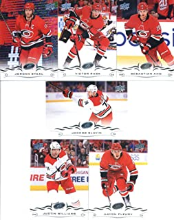 2d81f0005 2018-19 Upper Deck Series 1 and 2 Hockey Complete Carolina Hurricanes Team  Set of