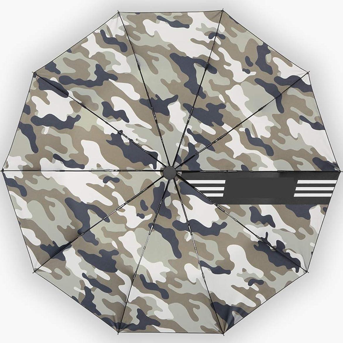 行政マイク分解する自動傘大折りたたみ傘太陽傘ポータブル傘防風三色オプション CQQO (Color : Gray)