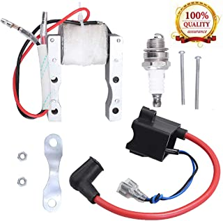High Performance CDI Ignition Coil + Magneto Coil + Spark Plug for 49cc-80cc 2-Stroke..