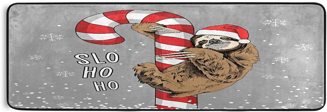 Boston Mall JUAMA Area Rug Xmas Max 72% OFF Cute Brown Sloth Floor Comfort Bath Mat Runn