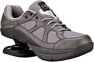Z-CoiL Pain Relief Footwear Men's Liberty Slip Resistant Gray Leather Tennis Shoe