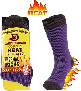 LANDUNCIAGA Unisex Winter Thermal Socks Warm Thickened Arctic Insulated Lined Heavy Crew Socks