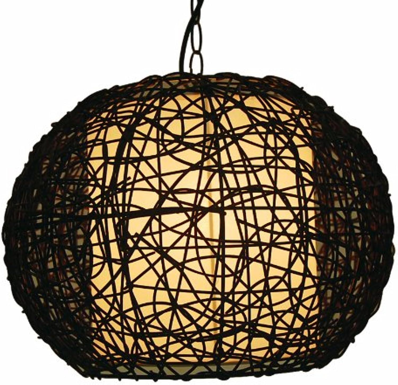 Rattan Deckenleuchte, Deckenlampe,Pendel, dunkelbraun Durchmesser ca. 40cm