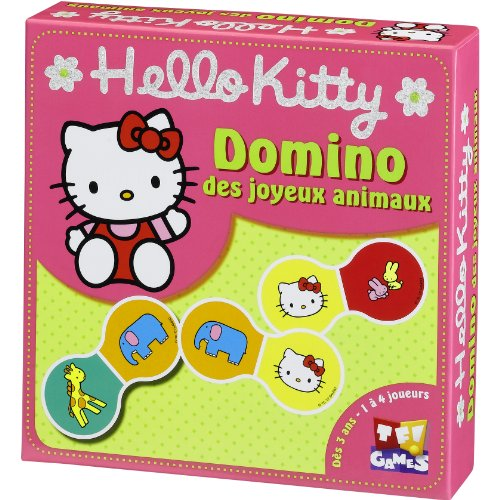 TF1 Games - jeu de société - Hello Kitty Domino des joyeux animaux