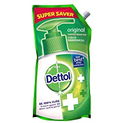 Dettol Germ Protection Ph.Balanced Liquid Handwash Refill, Original, 750 ml