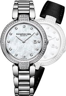 Women's Swiss-Quartz Watch with Stainless-Steel Strap, Silver, 16 (Model: 1600-SCS-97081)