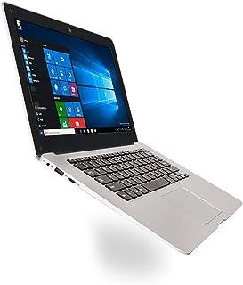 Bärbar dator Ultra-tunn bärbar dator 14,1-tums Netbook 1366X768P Display Pixel 2Gb+32Gb för Windows10-Vit EU-uttag