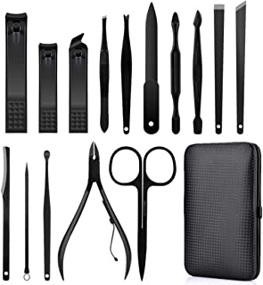 MQFORU 15 in 1 Professional Pedicure Manicure Set, Cuticle Nail Cutter Set, Stainless Steel Nail Scissors High Quality Nai...