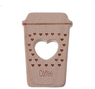 Biuuu 赤ちゃんTeethersかわいいコーヒーのペンダントネックレスアクセサリーブナウッドチュウのおもちゃ