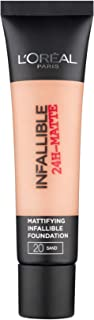L'Oreal Paris Infallible 24H Matte Face Foundation - 1.18 oz., 20 Sable Sand