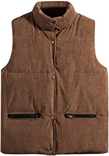 Iuhan Men Sleeveless Zipper Vest Pure Color Waistcoat Top Coat Soft Outwear Coat Warm Thick Sweater Casual for Autumn Winter