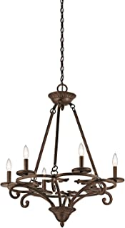 Kichler 43771AGZ Six Light Chandelier