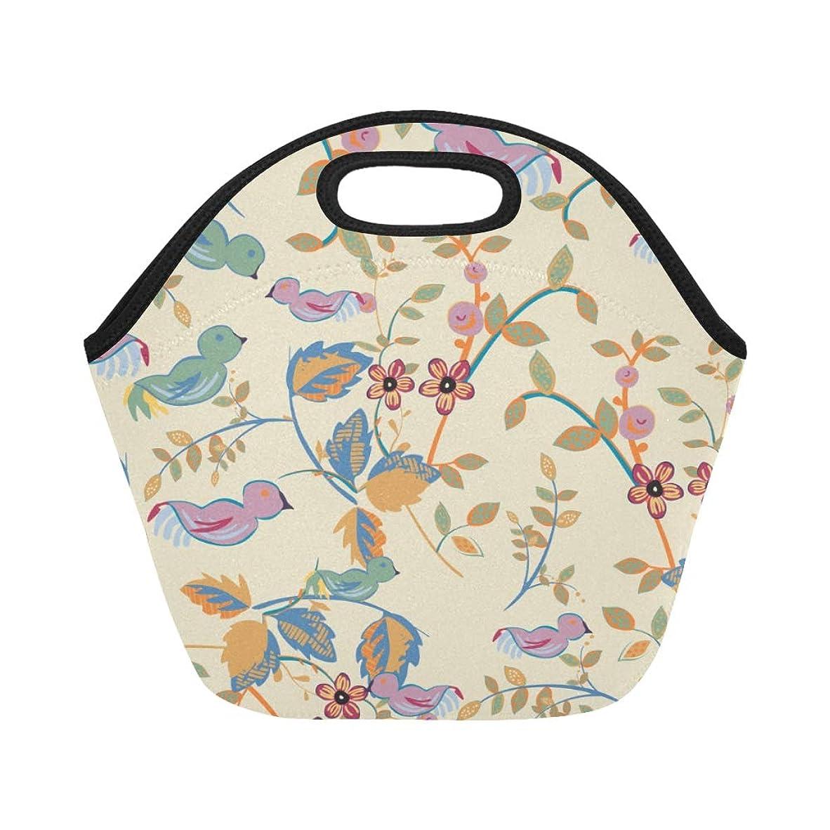 救援緑流DMHYJ ランチバッグ 美しい花 アニメーション鳥 弁当袋 お弁当入れ 保温保冷 トート 弁当バッグ 大容量 トートバッグ