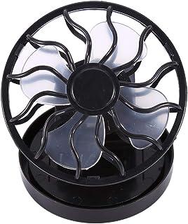 Borlai Mini Ventilador Solar Ventilador con Clip Eléctrico Viaje Portátil Ventilador de Escritorio para Acampar Senderismo Enfriamiento