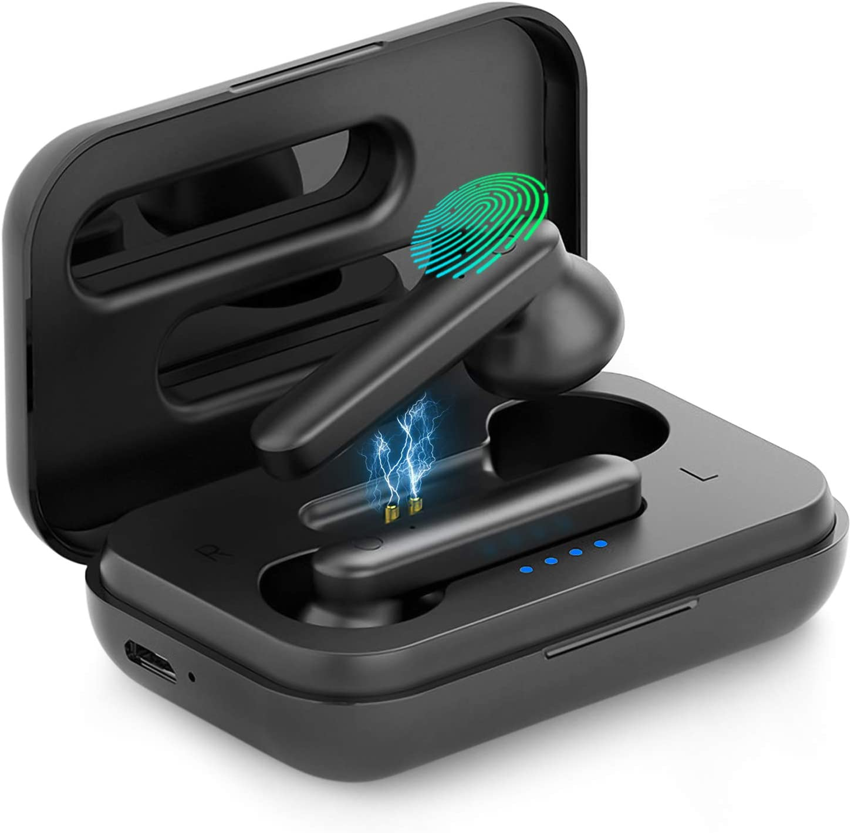 In-Ear TWS Cascos Bluetooth Inal/ámbricos con Microfono Dual y Caja de Carga para iPhone//Samsung//Xiaomi//Huawei Auriculares Bluetooth Deportivos IPX7 Impermeable Auriculares Inal/ámbricos Bluetooth 5.0