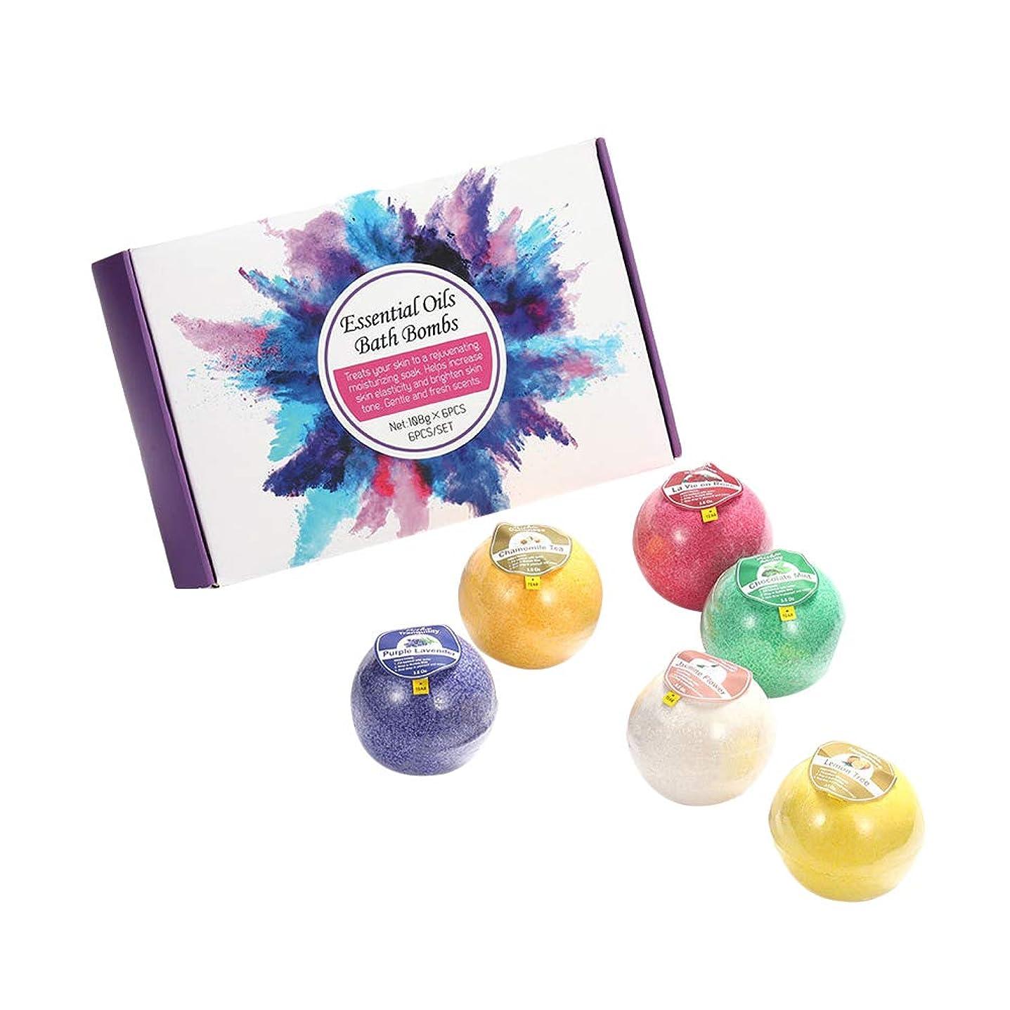 お風呂爆弾ギフトセット-天然海塩エッセンシャルオイル、女の子と女性のための贅沢なオーガニックバス爆弾