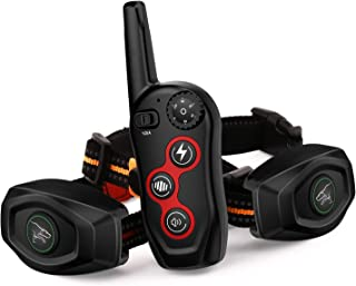 Dobe 2 in 1 Dog Training Collar - Automatic bark Collar - Rechargeable Remote Dog Bark Collar w/3 Training Modes, Beep, Vi...