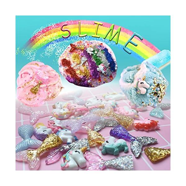 Hulluter 70PCS Slime Add Ins Slime Kit Floam Beads Fish Bowl Beads Mreaind Unicorn Slime Charms Glitter Jars Slime… 8