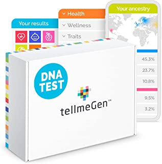 DNA Test Kit tellmeGen. +410 Reports. Health Predisposition. Ethnicity (Ancestry Composition). Genetic Carrier Status. Personal and Wellness Traits That Make You Unique