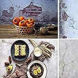 Fondo de doble cara patrón de ladrillo y cemento agrietado fondo de fotos de pared para alimentos, joyería de papel transparente tablero de fotografía accesorios DP105 40 x 88 cm