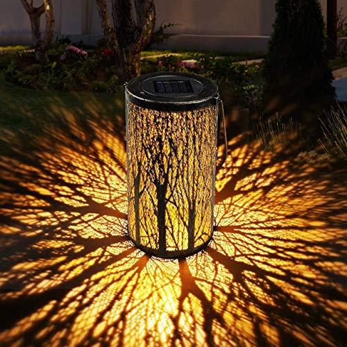 Linterna Solar Exterior Jardin GolWof Farol Solar Exterior Impermeable Luce de Linterna LED Luz Colgante Solar del Jardín Decoracion Exterior para Jardín Césped Patio al Aire Libre Partido Navidad