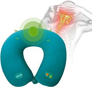 Neck Massager U-Shape Vibration Neck Massage Pillow Portable Electric Neck And Cervical Massager Massager Massage Pillow Foam Particle U-Shaped 1PC