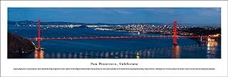 San Francisco - Golden Gate Bridge with Moonlight - Unframed Blakeway Panoram.