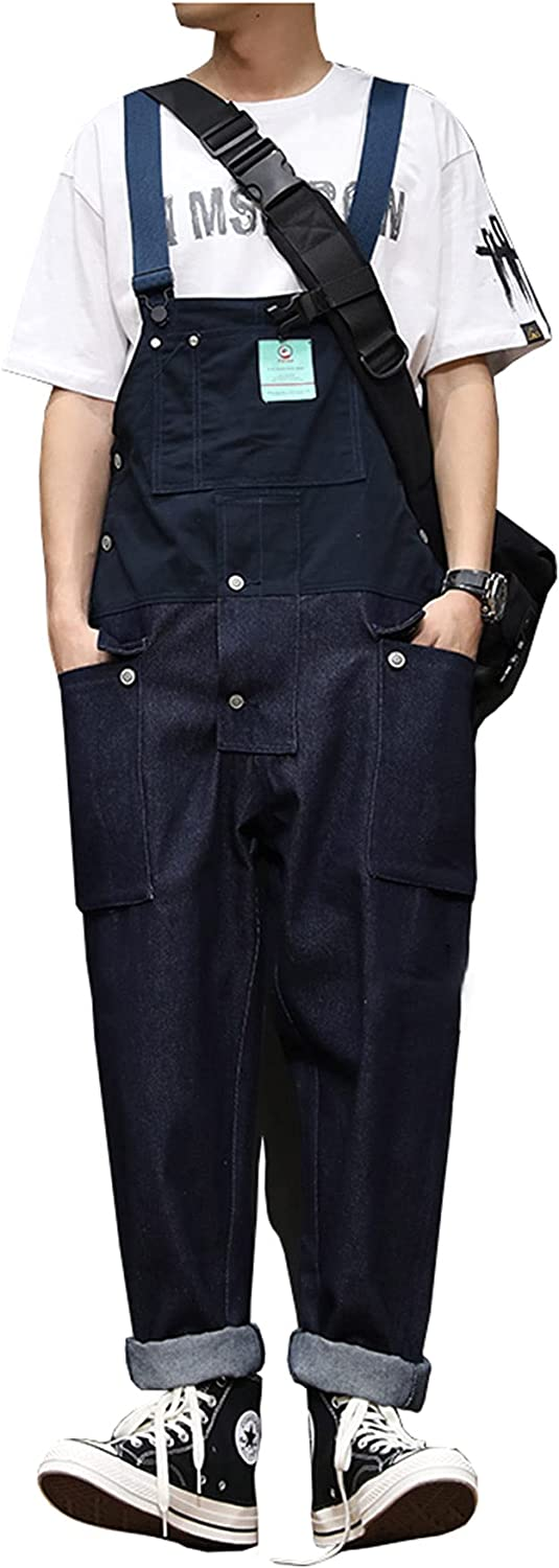 Jacksonville Mall Men's Bib Overall Straight Loose Trousers W Cargo overseas Matching Color