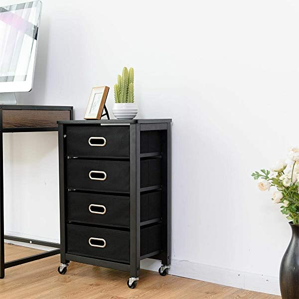 Heavy Duty Attractive And Practical Rolling File Cabinet Great For Bedrooms Office Entryways Living Room