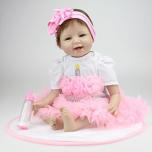 precios mas bajos ZIYIUI 22  Reborn Baby Dolls Smile Face Face Face Vinilo de Silicona recién Nacido Reborn Baby Realistic Baby Magnetic  hermoso