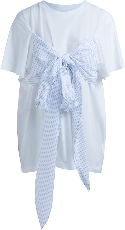 MAISON MARGIELA Mm6 Woman's TShirt Mm6 White Cotton with Belt Strap