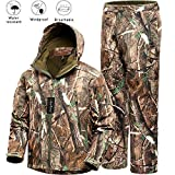 Camo Jacket New View Waterproof Hunting Camouflage Hoodie Military Jacketor and Pants for Unisex X-Large from NEW VIEW