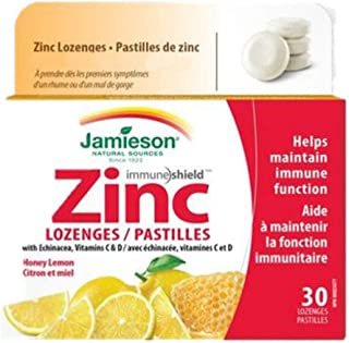 Jamieson Honey Lemon Zinc Lozenges, 30 Lozenges