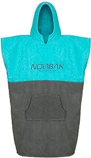 Poncho Surf con Capucha y Bolsillo Poncho Toalla para cambiarse de Ropa Deportes Acuáticos Natación/Changing Robe (Color Azul y Naranja)