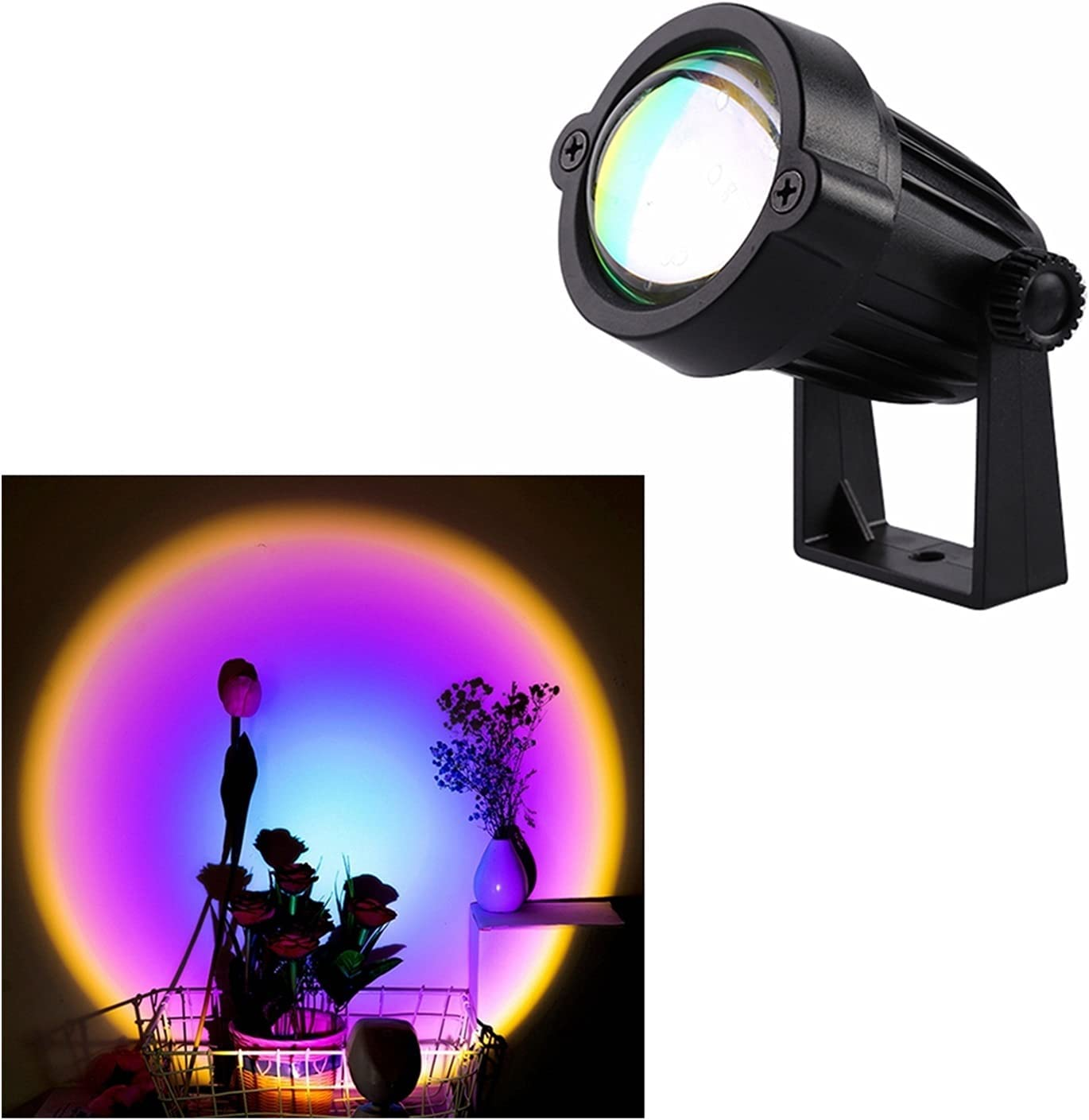 Zjirong Sunset Large special price !! lamp Projection Rainbow Night Large-scale sale LED 15W