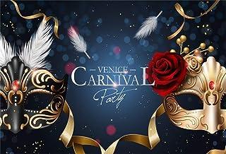 EdCott 9x6ft Gold und Schwarz Karneval Maske Hintergrund Maskerade Ball Foto Hintergrund Prom Halloween Party Tapete Poster Fotostudio Requisiten