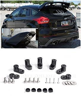 Extreme Online Store for 2013-Present Ford Focus ST/RS Hatchback Models | EOS Add-On Rear Wing Spoiler Riser Extendsion (Anodized Black)