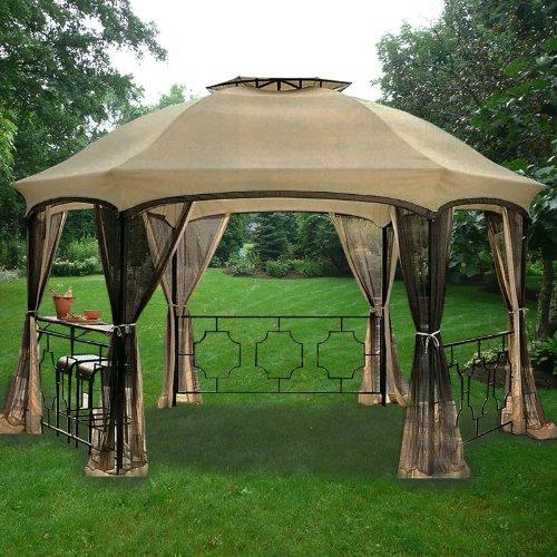 Garden Winds Dawson Hexagon Gazebo Replacement Canopy Top Cover