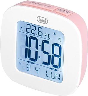 Trevi 0SL386008 Digital Alarm Clock Pink (Digital Alarm Clock, Pink, Plastic, F,°C, German, Dutch, English, Spanish, Frenc...